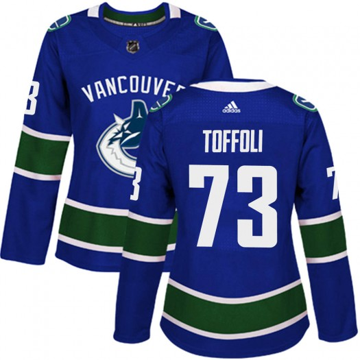 Tyler Toffoli Vancouver Canucks Women's Adidas Authentic Blue ized Home Jersey
