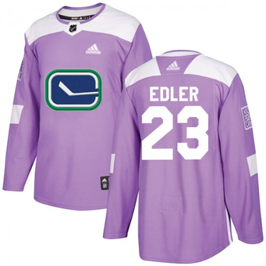 Alexander Edler Vancouver Canucks Youth Adidas Authentic Purple Fights Cancer Practice Jersey