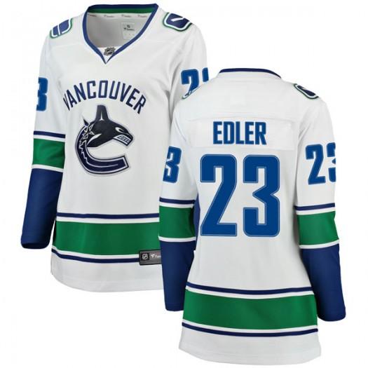 Alexander Edler Vancouver Canucks Women's Fanatics Branded White Breakaway Away Jersey