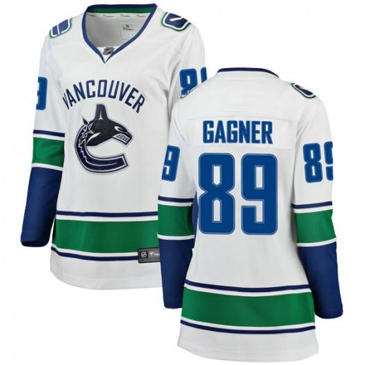 Sam Gagner Vancouver Canucks Women's Fanatics Branded White Breakaway Away Jersey