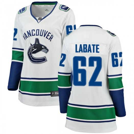 Joseph Labate Vancouver Canucks Women's Fanatics Branded White Breakaway Away Jersey
