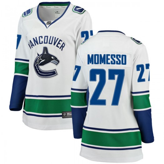 Sergio Momesso Vancouver Canucks Women's Fanatics Branded White Breakaway Away Jersey
