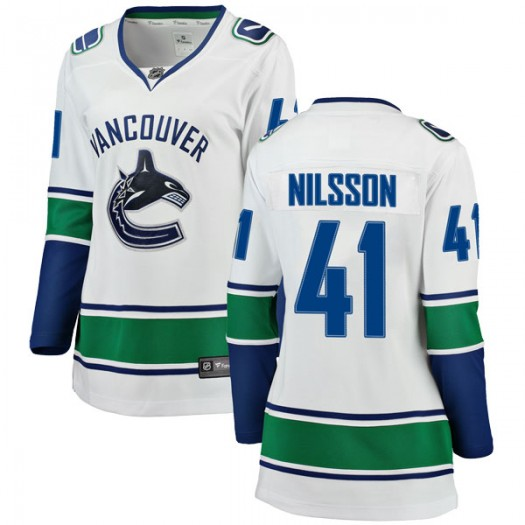 Tom Nilsson Vancouver Canucks Women's Fanatics Branded White Breakaway Away Jersey