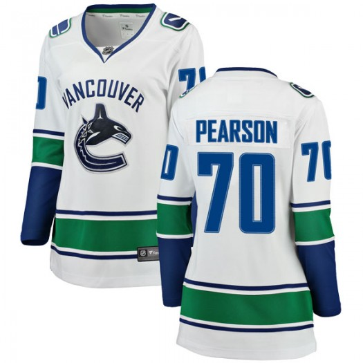 Tanner Pearson Vancouver Canucks Women's Fanatics Branded White Breakaway Away Jersey