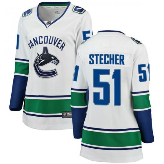 Troy Stecher Vancouver Canucks Women's Fanatics Branded White Breakaway Away Jersey