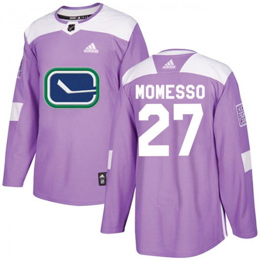 Sergio Momesso Vancouver Canucks Men's Adidas Authentic Purple Fights Cancer Practice Jersey