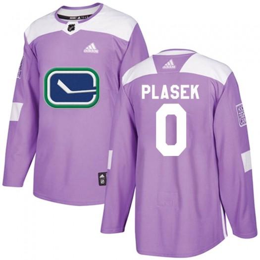 Karel Plasek Vancouver Canucks Men's Adidas Authentic Purple Fights Cancer Practice Jersey