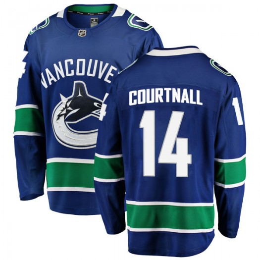 Geoff Courtnall Vancouver Canucks Men's Fanatics Branded Blue Breakaway Home Jersey