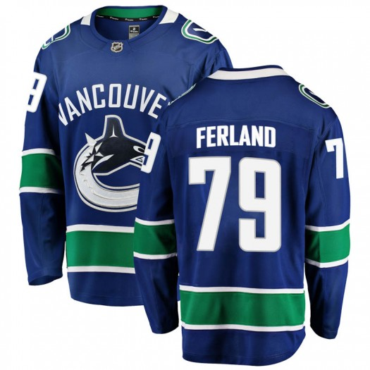 Micheal Ferland Vancouver Canucks Men's Fanatics Branded Blue Breakaway Home Jersey