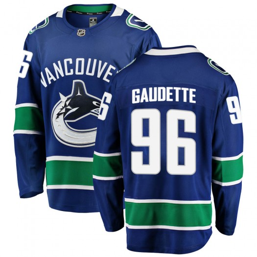 Adam Gaudette Vancouver Canucks Men's Fanatics Branded Blue Breakaway Home Jersey