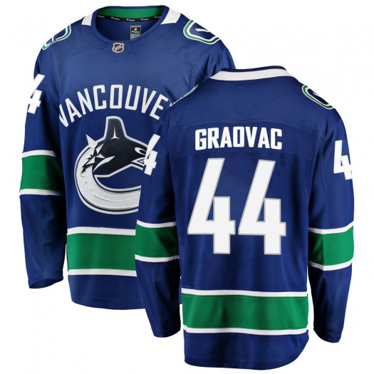 Tyler Graovac Vancouver Canucks Men's Fanatics Branded Blue Breakaway Home Jersey