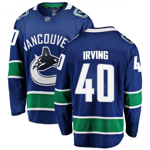 Aaron Irving Vancouver Canucks Men's Fanatics Branded Blue Breakaway Home Jersey