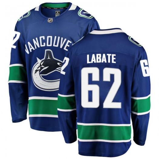 Joseph Labate Vancouver Canucks Men's Fanatics Branded Blue Breakaway Home Jersey