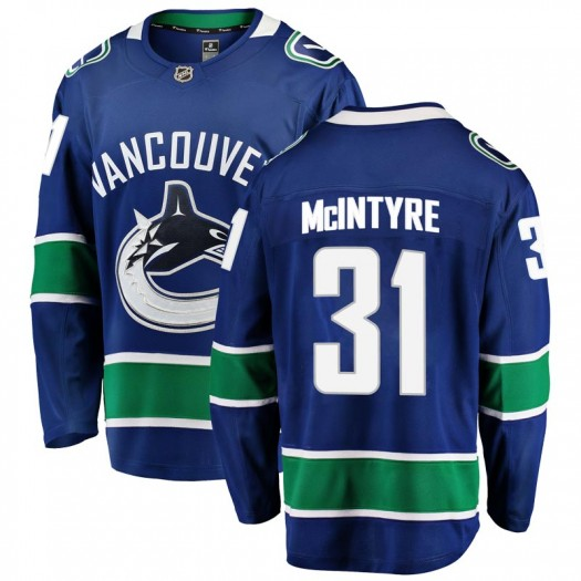 Zane McIntyre Vancouver Canucks Men's Fanatics Branded Blue Breakaway Home Jersey