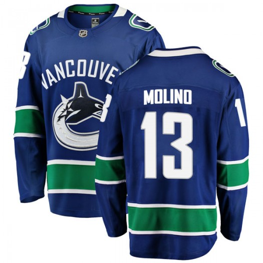 Griffen Molino Vancouver Canucks Men's Fanatics Branded Blue Breakaway Home Jersey