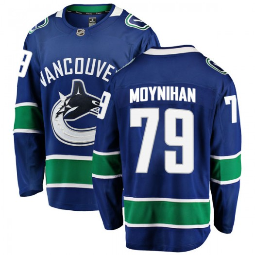 Danny Moynihan Vancouver Canucks Men's Fanatics Branded Blue Breakaway Home Jersey