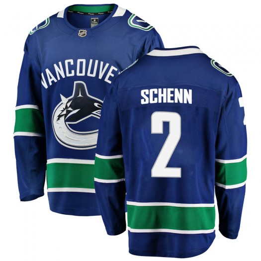 Luke Schenn Vancouver Canucks Men's Fanatics Branded Blue Breakaway Home Jersey