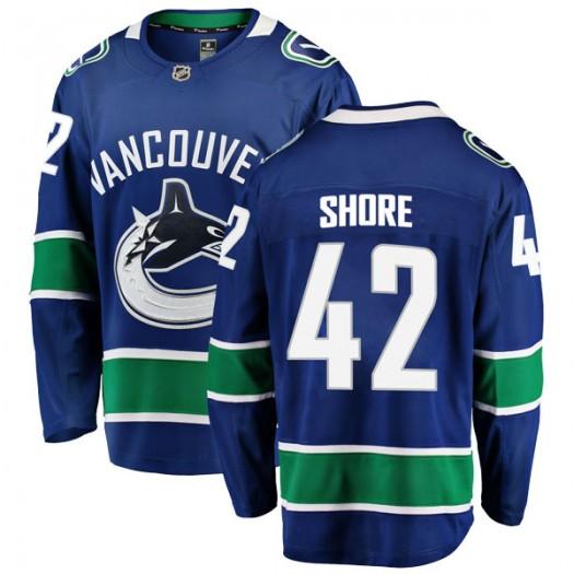 Drew Shore Vancouver Canucks Men's Fanatics Branded Blue Breakaway Home Jersey