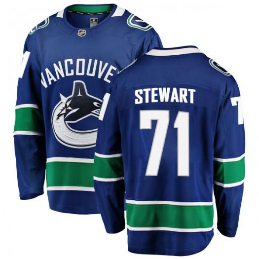 MacKenze Stewart Vancouver Canucks Men's Fanatics Branded Blue Breakaway Home Jersey