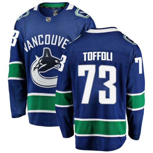 Tyler Toffoli Vancouver Canucks Men's Fanatics Branded Blue ized Breakaway Home Jersey
