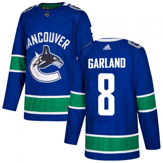 Conor Garland Vancouver Canucks Youth Adidas Authentic Blue Home Jersey
