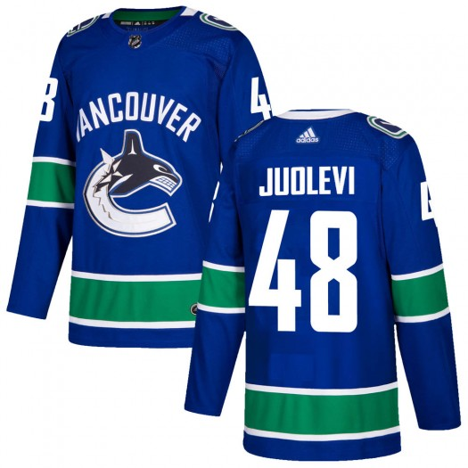 Olli Juolevi Vancouver Canucks Youth Adidas Authentic Blue Home Jersey