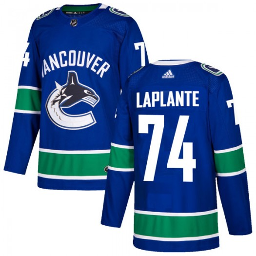 Yan Pavel Laplante Vancouver Canucks Youth Adidas Authentic Blue Home Jersey