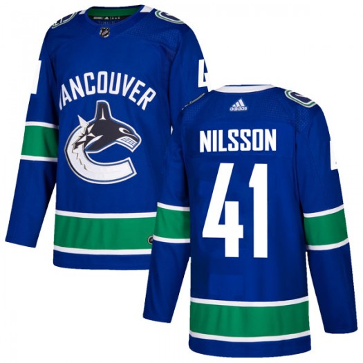 Tom Nilsson Vancouver Canucks Youth Adidas Authentic Blue Home Jersey