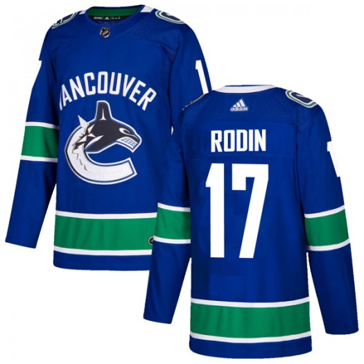 Anton Rodin Vancouver Canucks Youth Adidas Authentic Blue Home Jersey