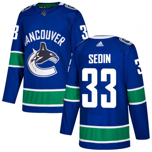 Henrik Sedin Vancouver Canucks Youth Adidas Authentic Blue Home Jersey