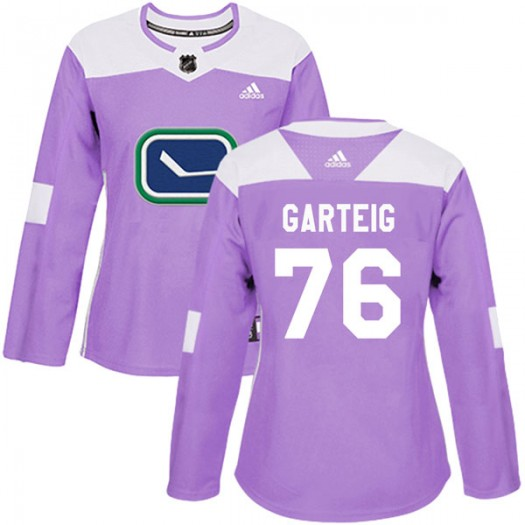 Michael Garteig Vancouver Canucks Women's Adidas Authentic Purple Fights Cancer Practice Jersey