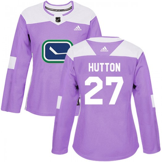 Ben Hutton Vancouver Canucks Women's Adidas Authentic Purple Fights Cancer Practice Jersey