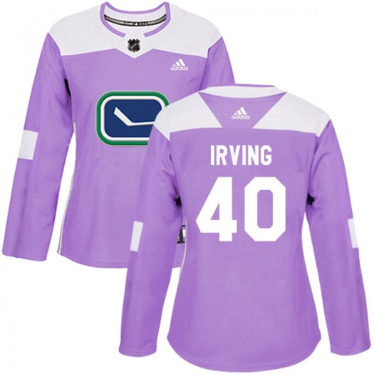 Aaron Irving Vancouver Canucks Women's Adidas Authentic Purple Fights Cancer Practice Jersey