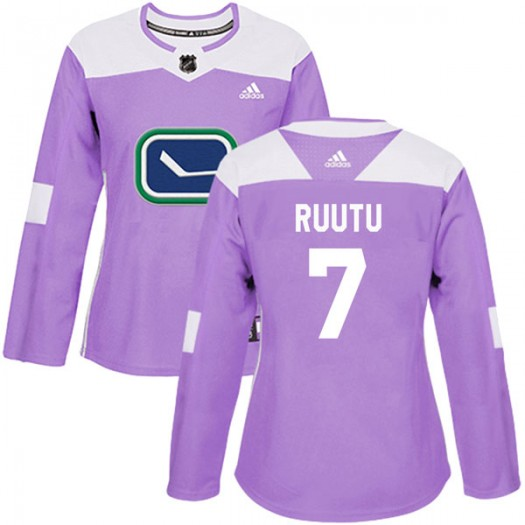 Tuomo Ruutu Vancouver Canucks Women's Adidas Authentic Purple Fights Cancer Practice Jersey