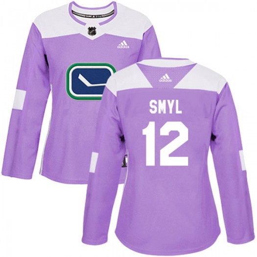 Stan Smyl Vancouver Canucks Women's Adidas Authentic Purple Fights Cancer Practice Jersey
