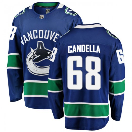 Cole Candella Vancouver Canucks Youth Fanatics Branded Blue Breakaway Home Jersey