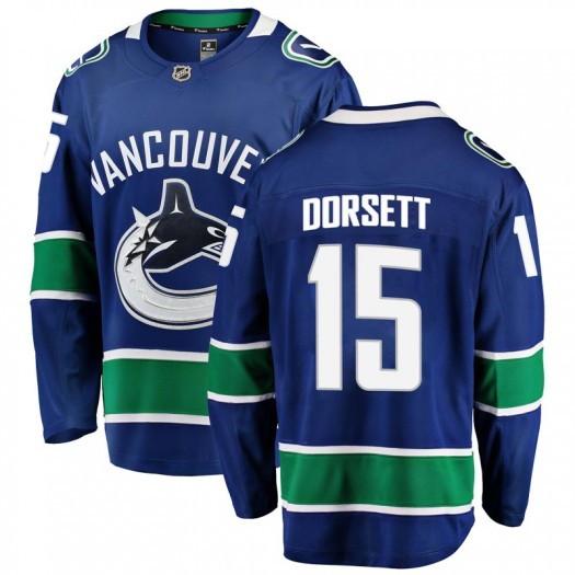 Derek Dorsett Vancouver Canucks Youth Fanatics Branded Blue Breakaway Home Jersey