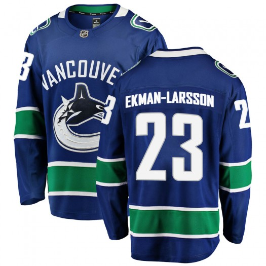 Oliver Ekman-Larsson Vancouver Canucks Youth Fanatics Branded Blue Breakaway Home Jersey
