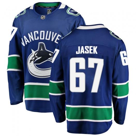 Lukas Jasek Vancouver Canucks Youth Fanatics Branded Blue Breakaway Home Jersey
