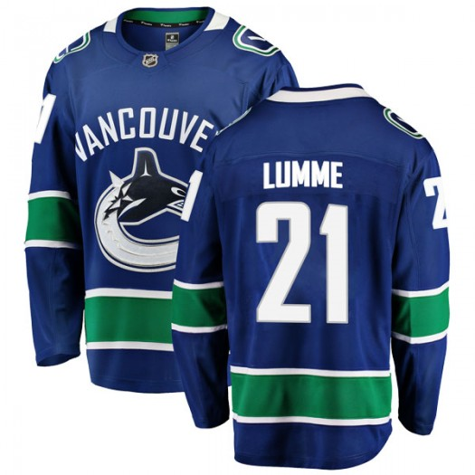 Jyrki Lumme Vancouver Canucks Youth Fanatics Branded Blue Breakaway Home Jersey