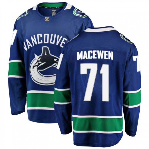 Zack MacEwen Vancouver Canucks Youth Fanatics Branded Blue Breakaway Home Jersey