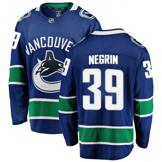 John Negrin Vancouver Canucks Youth Fanatics Branded Blue Breakaway Home Jersey