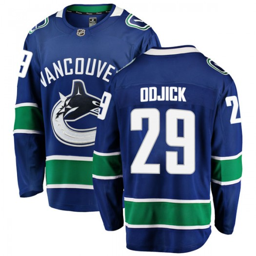 Gino Odjick Vancouver Canucks Youth Fanatics Branded Blue Breakaway Home Jersey