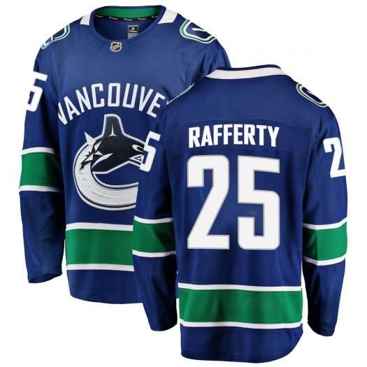 Brogan Rafferty Vancouver Canucks Youth Fanatics Branded Blue Breakaway Home Jersey