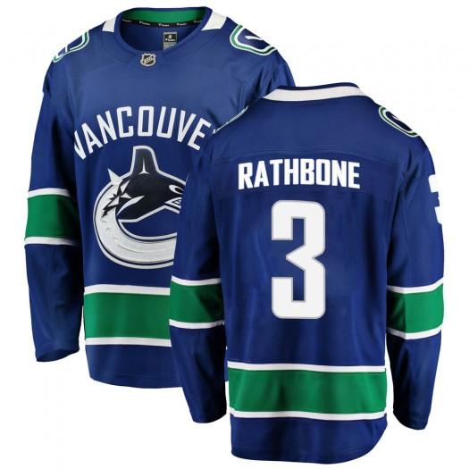 Jack Rathbone Vancouver Canucks Youth Fanatics Branded Blue Breakaway Home Jersey