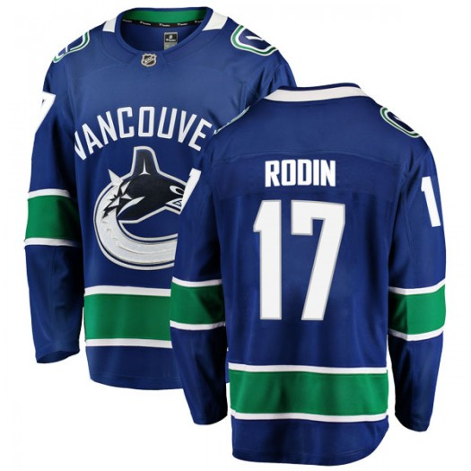 Anton Rodin Vancouver Canucks Youth Fanatics Branded Blue Breakaway Home Jersey