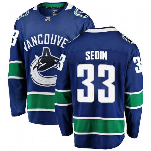Henrik Sedin Vancouver Canucks Youth Fanatics Branded Blue Breakaway Home Jersey