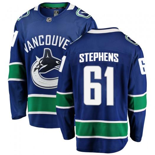 Devante Stephens Vancouver Canucks Youth Fanatics Branded Blue Breakaway Home Jersey