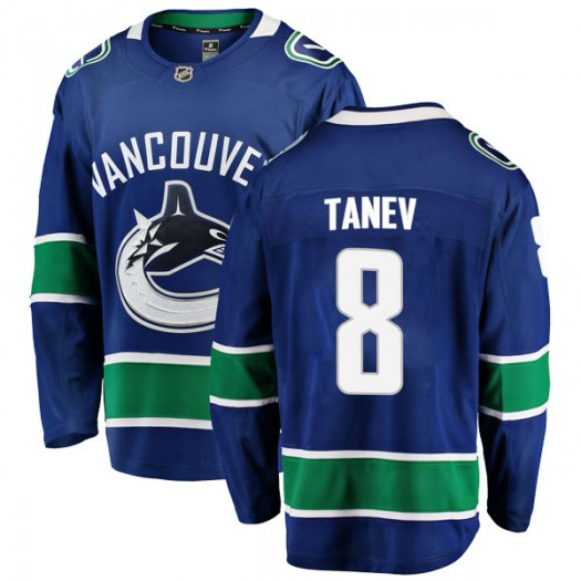 Chris Tanev Vancouver Canucks Youth Fanatics Branded Blue Breakaway Home Jersey