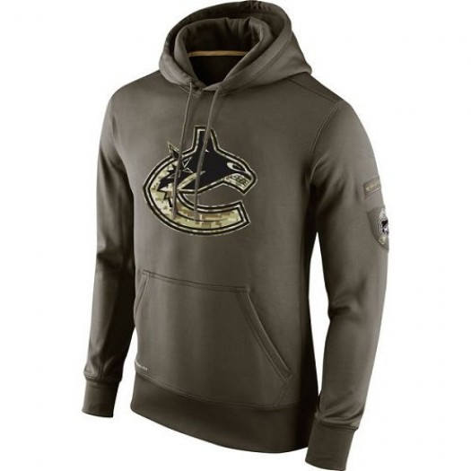 Vancouver Canucks Men's Nike Olive Salute To Service KO Performance Hoodie